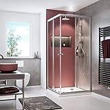 Schulte D1944 169 50 Sunny Eckeinstieg mit Schiebetüren Duschkabine Silberfarben