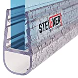 STEIGNER Duschdichtung, 200cm, Glasstärke 6/ 7/ 8 mm, Gerade PVC Ersatzdichtung für Dusche, UK07