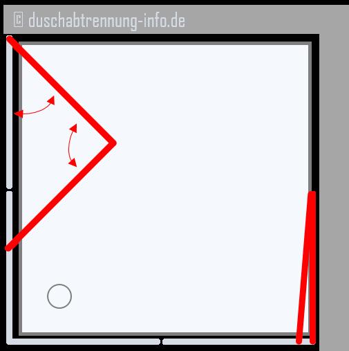 Duschabtrennung | Eckeinstieg Falttüre