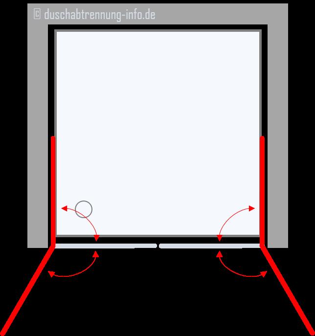 Duschabtrennung | Nische Pendeltüre zweiflügelig