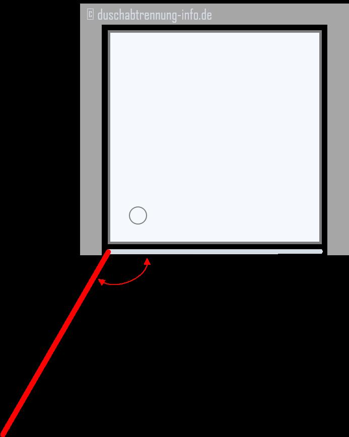 Duschabtrennung | Nische Schwingtüre (einflügelig)