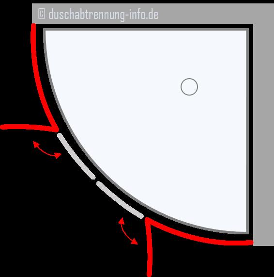 Duschabtrennung | Runddusche Schwingtüre